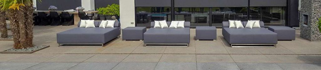 outdoor double chaise